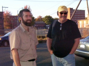 Torsten Burns from Parsons Hall project and Bruce Fowler from Paper City Studios